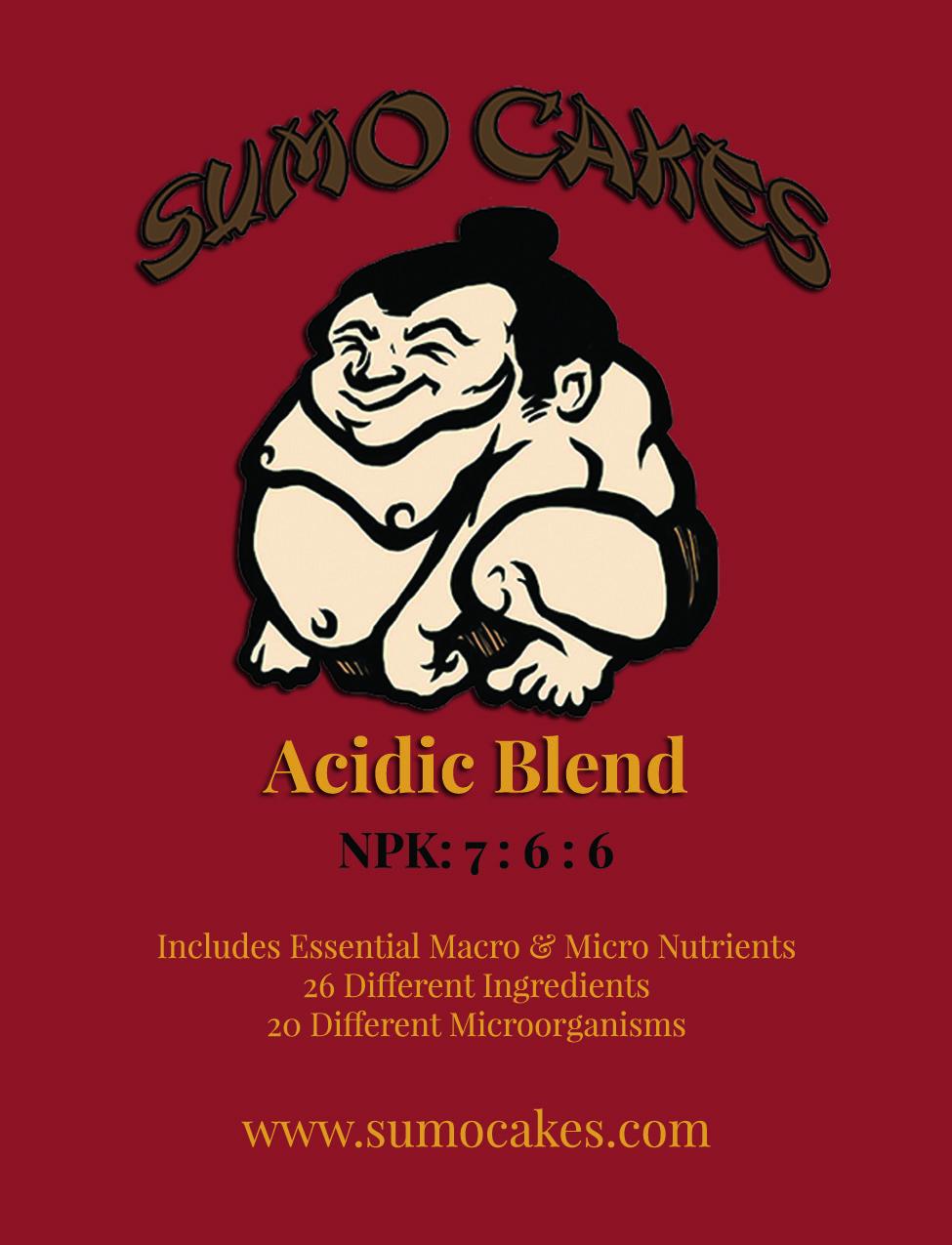 Sumo Cakes® Acidic Blend Front Label
